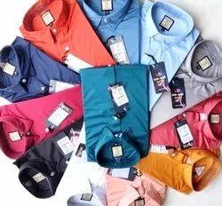 Slim Fit Multicolor Hittlar Dnm Club 4 Way Lycra Plain Shirts