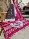 Bagru Hand Block Print Cotton Linen Saree