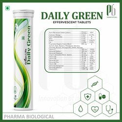 Daily green effervescent tablet
