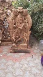 Wooden Krishna 5 feet