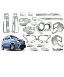 Silver Car Chrome Combo Kit