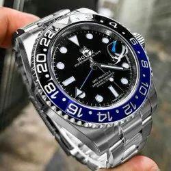 Silver Rolex GMT master II Men's watch
