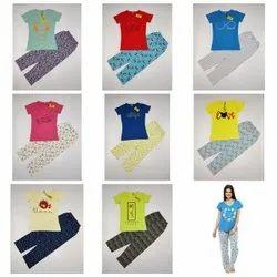 Ladies Printed Pajama Set