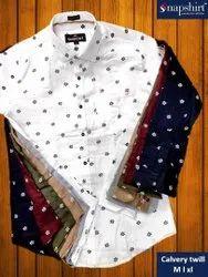 snapshirt Cotton Men Party Wear Printed Shirt
