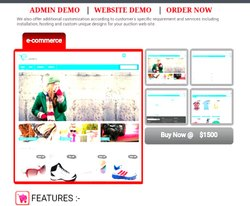 PHP/JavaScript Dynamic Ecommerce Website, With 24*7 Support