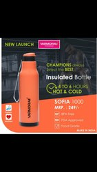 Varmora Blue Insulated Cool Water Bottle, Model Name/Number: Sofia, Capacity: 1000