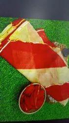 Pure Najmin Chiffon Lehariya Saree