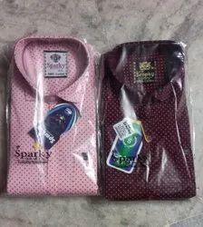 Saprky Cotton Men's Printed Casual Shirts, Size: M L XL