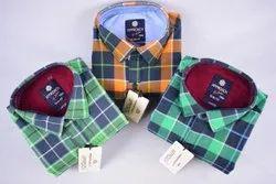 Approach Collar Neck Mens Cotton Shirt, Size: Multiple
