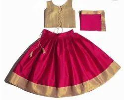 Girl Kids Onam Dress