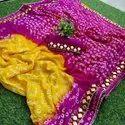 Bandhani silk gottapatti sarees