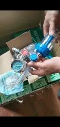 Oxygen Cylinder Regulator With Flowmeter With Humidifier Bottle