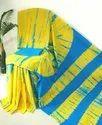Shibori Tie & Dyed Printed Soft Mulmal Cotton Saree