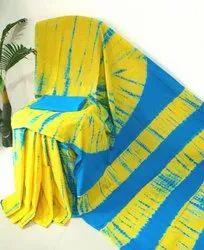 Shibori Printed Cotton Saree