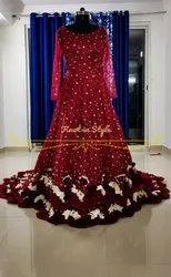 Red Ladies Wedding Designer Gowns