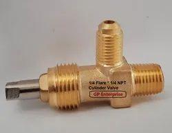 Gas 1/4 Flare-1/4 NPT Refrigerant Cylinder Valve/Receiver Valve, For Refrigeration Industry