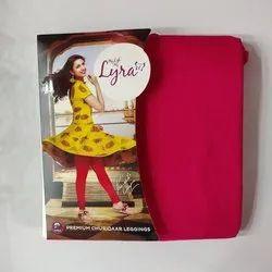 Red Mid Waist Lux Lyra Plain Churidar Leggings, Casual Wear, Size: Free Size