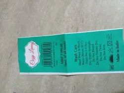 White Blanket Labels, For Garments, Packaging Type: Roll