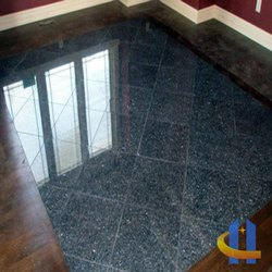 Polished Grey Designed Granite Tiles, For Flooring, Thickness: 10-15 mm
