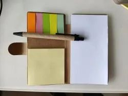 Eco friendly sticky notes pads with Pen