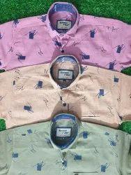 Collar Neck Cotton Kids Boy Full Sleeve Shirt