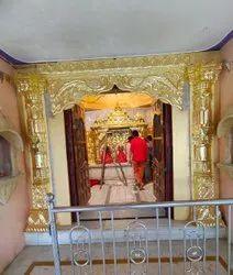 Golden foil work for temple