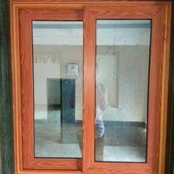 Jindal Modern Wooden Finish Aluminium Windows, For Home,Office, Size/Dimension: Not Small Than 4x4