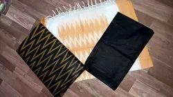 Printed Ikat Cotton Dress, Size: Free
