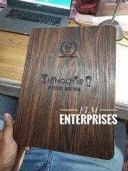 Wooden Menu cover