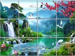 Multicolor Digital Printing Custom Printed Ceramic Tile, Thickness: 8 - 10 mm, Size: Large