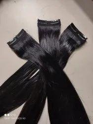 Double Clip Human Hair