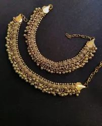 Oxidized Gold Plated Anklet