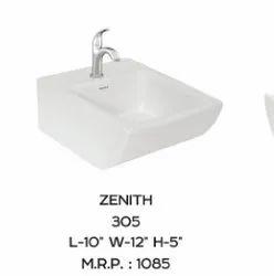 Ceramic White Wash Basin, For Bathroom