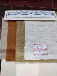 White 40 Lea X 40 Lea Linen Fabric, GSM: 100-150