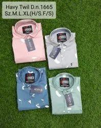 Royal Kalbi Cottan Men Cotton Shirts, Machine wash, Size: M.l.xl