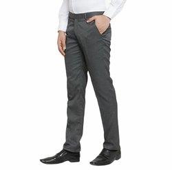 Matty 380GSM Flat Mens Grey Formal Trouser, Machine wash