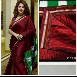 Festival Wear Trend And Rivaaz Maharashtra Khan/Khun Sarees, With Blouse Piece, 6.20