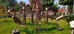 Brown Iron junk metal Art
