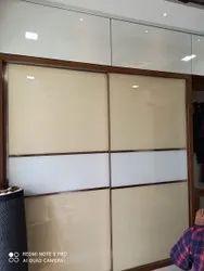 Flower Print PVC Fancy Wooden Wardrobe, For Window, Size: 6x6Feet