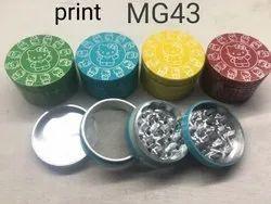 62 mm print tabacco grinders