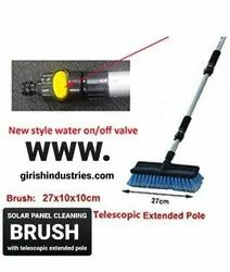 Solar Panel Cleaning Brush With Water Fed
