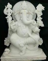 White Marble Ganpati Statue2.5 feet
