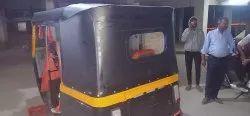 Bajaj Electric Auto Rickshaw Black Hood Fitment Testing