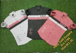 3 color Casual Wear Havy cotton Surgery Designer Shirts, Size: M.L.XL