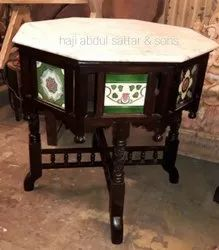 Brown Antique Rosewood Table, For Home