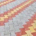 Rubber interlocking paver block