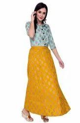 VASTRAMANIAA Cotton Shirt And Skirt Set