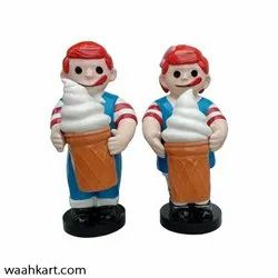 Boy And Girl Statue With Ice Cream Cone
