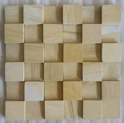 Natural Mosaic Wooden Wall Tiles, Thickness: 10-15 mm, Size: 30x30cm
