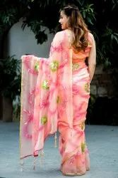 Neelam Party Wear Ladies Chiffon Saree, With Blouse Piece, 5.5 m (separate blouse piece)